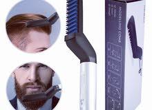 مشط تصفيف الشعر و الذقن الكهربائي للرجال مشط الشعر الحراري للرجال للشعر واللحية