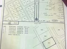ارض سكنية منطقة الفرفاره الغرب مساحتها 600م