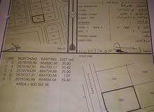 للبيع ارض سكنية ممتازة في العامرات جحلوت كونر القطعة 1325