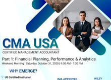 CMA Part 1 Weekend Morning Class starts on October 31, 2020