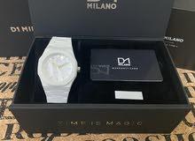 ساعة دي ون ميلانو اصلية مع جميع المرفقات