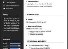 مهندس طاقة متجددة (طاقة شمسية)