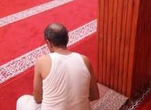 تفريش الزرابي السجادة بالمساجد المغربية