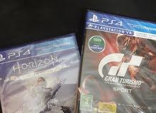 للبيع هورايزن زيرو و جراند تريزمو PS4 جديد