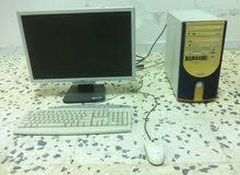 كمبيوتر مكتبي مستعمل للبيع + + عدد 2 لوحة مفاتيح نوع HP جدد غير مستعملات