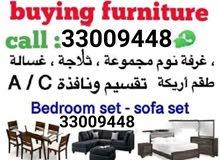 WE buying all kind of house hold items bedroom set sofa set fridge split Ac wind