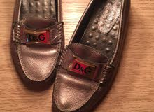 dolce & gabbana silver loafers