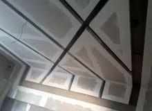 فنيين جبس مبورد و أسقف معلقه 60x60 والباركيه بالمواد