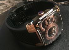 للبيع ساعة يد سويسرية مرصعة بالألماس جديدة