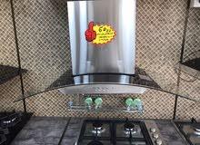شفاط مطبخ - ستانلس ستيل - قوة 650 m3 - كفالة سنة