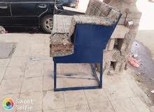 كرسي نفرين مع المدكٲ حديد ملحمه لحام مع اثنين ادراج