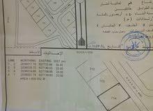 أرض للبيع بولاية المضيبي الروضه مربع 12 المسفاه رقم القطعة 714 مساحتها 600