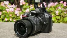 كاميرا نيكون d3400 جديدة للبيع أستخدمتها مرتيتن فقط