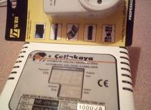 منظم كهربائى 220 فولث (تركى ) قوته 1000 وات + متبت حماية للاجهزة الكهربائية