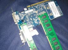 Nvidia graphics card 2gb + 2x2gb ram  ddr2