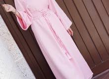 فستان وردي فري سايز جديد سعره مخفض جداً