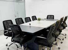 قاعة اجتماعات مكيفة ومفروشة للايجار
