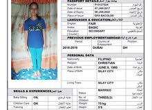 Filipino   housemaid for 2 years