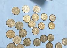 40 قطعة 10مليمات الصقر 1973