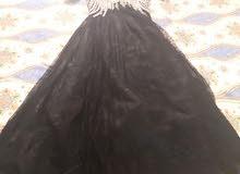 فستان اسوددتنتيل معدل من الخلف