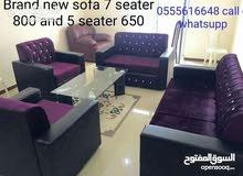 7 مقاعد أريكة مجموعة 3 + 2 + 1 + 1 متوفرة قوية جدا