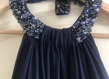 blue long evening dress