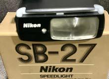 فلاش كامير من شركة نيكون اصلي SB-27