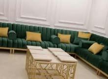 making new majlis, Sofa, curtain. recovering old majlis, sofa.