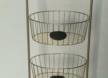 luxury golden basket stand