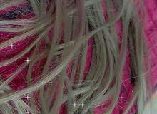 شعر طبيعي مستعمل 6دي للبيع