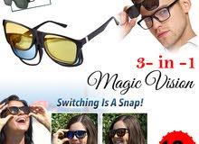نظارات اتش دي فيجن الجديده للسائقين السيارة بالليل و النهار والطرق الممطرة رؤية اوضح HD Vision
