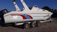 قارب *غلف كرافت* مع *سيارة بيكوب* للبيع