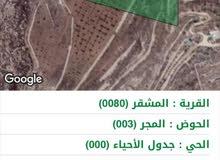 12 دونم ارض زراعية ب حسبان بدون شارع للبيع بسعر مميز