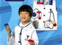 للبيع بسعر مميز لباس المهن ( لباس مهنة الطبيب للاعمار من سنه لعمر 10 سنوات ) بسعر مميز ومنافس
