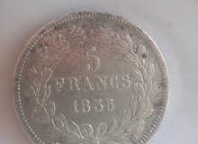 عملة قديمة تعود لفترة حكم الملكي في فرنسا 1835