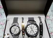 ساعة لي كوبل +2براسلي+خاتم نسائي