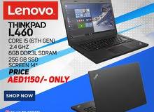 lenovo thinkpad l460 i5 6th generation 8gb ram and 256gb ssd storage