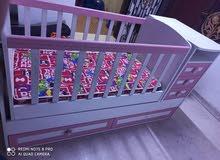 سرير طفل + ثلاجة صغيره + قنفة نفخ