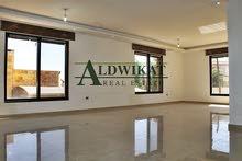 شقه ارضية للبيع في منطقة دابوق مساحة البناء 330م و مساحة الترس 80م