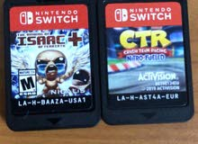 crash team racing and the binding of Isaac for sale