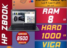 للبرامج الهندسيه//HP ZBOOK 15 كور I7 رمات 8جيجا هارد 1000 فيجا NVIDIA جيل رابع