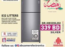 LG Refrigerator 832 Litter (Silver)
