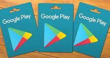 شراء بطاقات جوجل بلاي ( شحن)