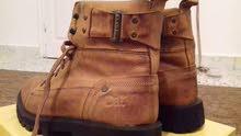 حذاء CAT بضاعه اسبانيه جلد اصلي لون عسلي راقيه وحلوه مقاس 41 حاليا