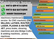 CNC Machines Router, Laser, Plasma, Water jet parts and installation