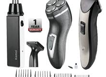 Kemei 10 In 1 Facial & Body Grooming Set - Black/Gray