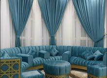 صنع أريكة جديدة ، تغيير ملابس الأريكة ، إصلاح الأريكة ، أعمال السجاد