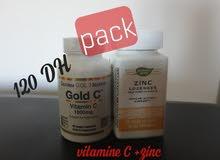 pack vitamine c et zinc