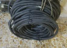 كيبل كهرباء سنكل فيز  يعني خطين حار وبارد  مستعمل قليل  ابو 16 ملم عازل قوي وسيم