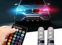 2PCS #T10 W5W #LED RGB 12V